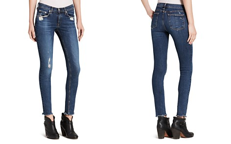 Rag & Bone Raw-Edge Low-Rise Jeans Discount Supply Pay With Paypal Online mIWWZsoe1u