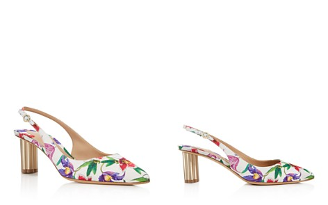 Free Shipping Purchase Salvatore Ferragamo Women's Floral Slingback Pumps - 100% Exclusive Discount Amazing Price Newest tQO9VH9ed