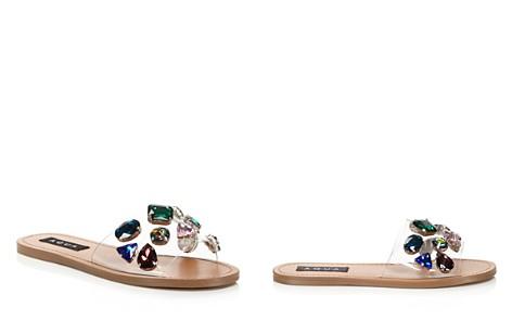 Aqua Women's Trinket Embellished Slide Sandals - 100% Exclusive 4Ftxi6shPf