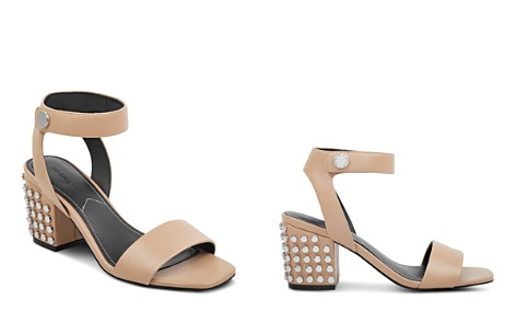 Kendall And Kylie Women's Sophie Studded Leather Block Heel Sandals Kmgrttz8bP