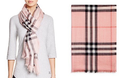 cashmere oversize check scarf - Pink & Purple Burberry if0vRdsZdT