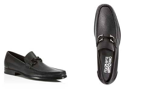 Salvatore Ferragamo Loafers for Men On Sale, Black, Leather, 2017, 7 7.5