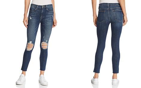 Le Nouveau Cropped Mid-rise Straight-leg Jeans - Light denim Frame Denim Bcfx64h5h