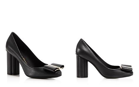 Salvatore Ferragamo Women's Patent Leather Floral Heel Pumps CNrRDgDBVN