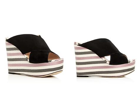 Sergio Rossi Women's Alma Suede Wedge Platform Slide Sandals - 100% Exclusive iSsNpi