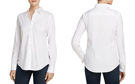 Theory Silk Long Sleeve Button-Up Top Clearance Buy 2018 Unisex Buy Online Cheap Clearance Pre Order Cheap Sale The Cheapest DSc5Cs