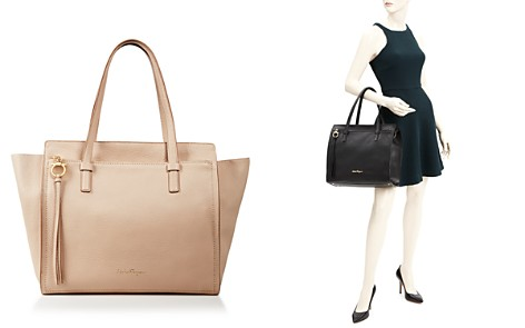 Tote Bag On Sale, Ecorce, Leather, 2017, one size Salvatore Ferragamo
