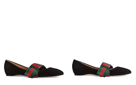 Womens Yva Leather & Snakeskin Flats Gucci plTunhle