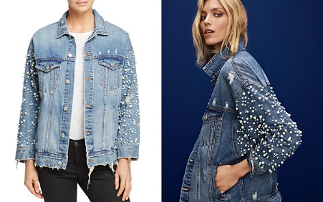 Denim jacket with rips Alexander Wang Outlet Top Quality 92GrSRs