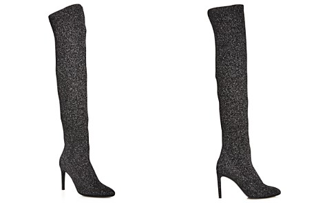 Opening Ceremony Woman Bukled Suede Over-the-knee Boots Black Size 36 Opening Ceremony 7n0CwBi
