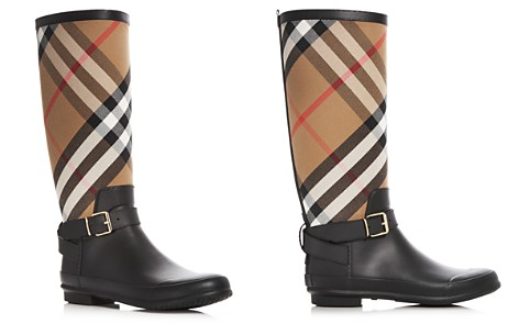 Burberry Buckle-Accented Rain Boots Many Kinds Of Sale Online Sale Discount Buy Cheap Explore ombX2h