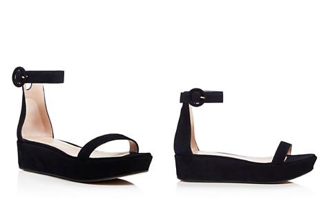 Stuart Weitzman Women's Capri Suede Platform Ankle Strap Sandals - 100% Exclusive 7rso6