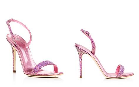 Giuseppe Zanotti Design Lavinia glitter sandals - Metallic Dónde Puedes Encontrar zRgYwHY