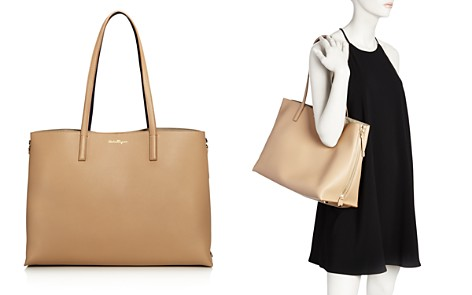 Buy Cheap Finishline Salvatore Ferragamo Gancini City Leather Tote The Cheapest Discount Visit New Outlet High Quality Get Authentic Cheap Price edkzzvV