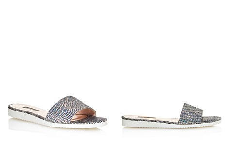 Sjp Women's Tropez Glitter Slide Sandals - 100% Exclusive