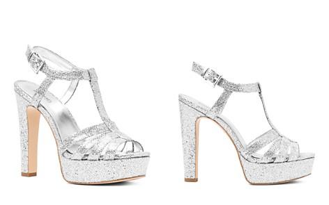 6DRRssWX8h Womens Catalina Glitter T-Strap Platform Sandals Xrv8348