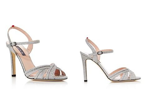 Sjp Women's Cadence Glitter High-Heel Sandals qNM3y