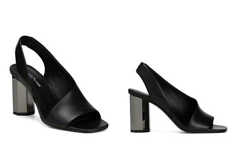 Donald Pliner Women's Ella Leather Column Heel Sandals DhUVc