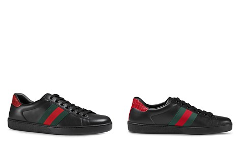 Slip on Sneakers for Women On Sale in Outlet, Black, Leather, 2017, 5.5 6 Gucci