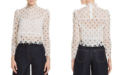 Sandro Long Sleeve Lace Top Pictures Cheap Online ADvqX