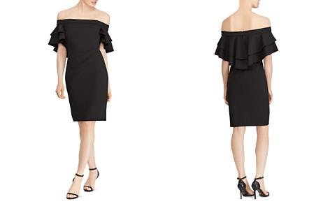 Dress for Women, Evening Cocktail Party On Sale, Navy Blue, Cotton, 2017, 10 6 Ralph Lauren