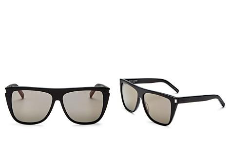 Sunglasses On Sale, Transparent Green, 2017, one size Saint Laurent