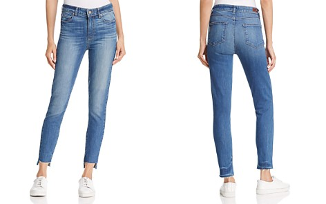 Margot Cropped Jeans with Frayed Hem Paige Buy Cheap Best Store To Get Sale Deals ZjyVtgr