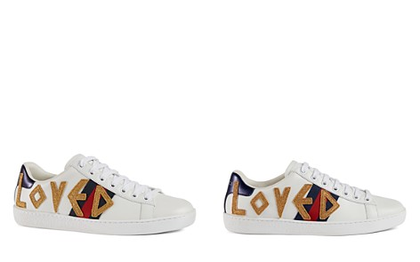 Gucci White & Blue Sunset High-Top Sneakers AnA3L