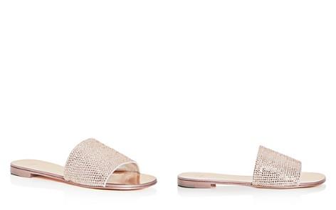 Giuseppe Zanotti Women's Embellished Suede Slide Sandals bOGQhwKNJS