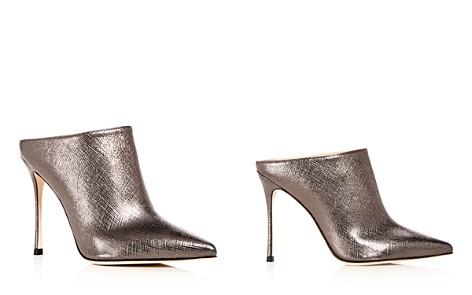 Sergio Rossi Women's Godiva Leather High-Heel Pointed Toe Mules 4kNSDGU