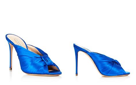 Casadei Women's Sophia Satin Knot High-Heel Slide Sandals vMU2hY03OS