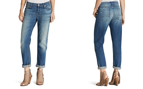 7 For All Mankind Woman Cropped High-rise Slim-leg Jeans Light Denim Size 27 7 For All Mankind OtUud5zTyw