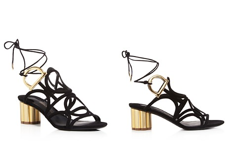 Salvatore Ferragamo Embellished Lace-Up Sandals Sale Pre Order Enjoy Shopping Buy Online New Buy Cheap Official Es6UMElXLd