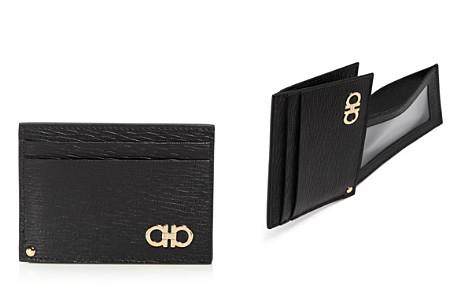 Color Block vertical folded card case in grain calfskin leather Tiffany & Co. 6uE82Et