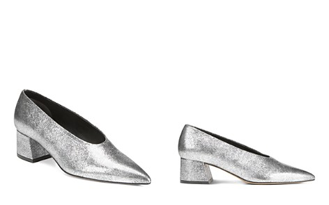Vince Women's Rafe Metallic Leather Pointed Toe Pumps - Bloomingdale's_2