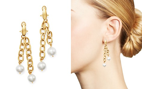 Bloomingdale's Cultured Freshwater Pearl Dangle Drop Earrings in 14K Yellow Gold - 100% Exclusive_2