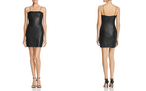 AQUA LUXE Capsule Faux Leather Mini Dress - 100% Exclusive - Bloomingdale's_2