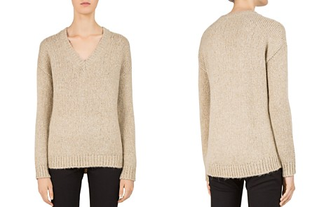 Gerard Darel Ciara Metallic V-Neck Sweater - Bloomingdale's_2