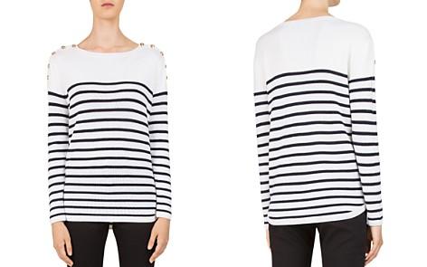 Gerard Darel Charlie Striped Button-Shoulder Sweater - Bloomingdale's_2