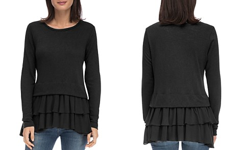 B Collection by Bobeau Vicki Tiered Ruffle Hem Top - Bloomingdale's_2