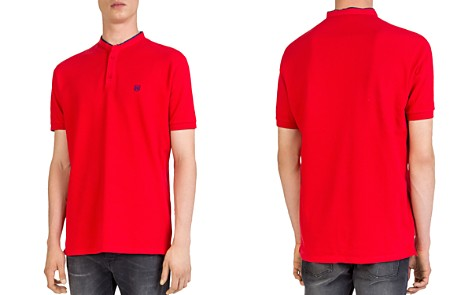 The Kooples Stand Collar Regular Fit Pique Polo - Bloomingdale's_2