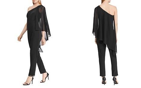 Lauren Ralph Lauren Cape-Overlay One-Shoulder Jumpsuit - 100% Exclusive - Bloomingdale's_2