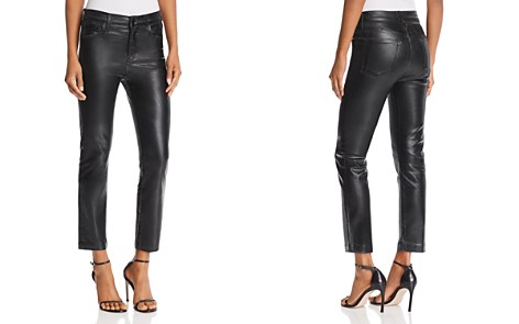 J Brand Ruby High Rise Crop Stovepipe Jeans in Galactic Black - Bloomingdale's_2