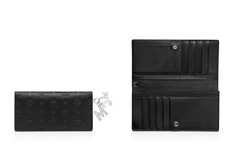 MCM Klara Leather Logo Charm Wallet - Bloomingdale's_2