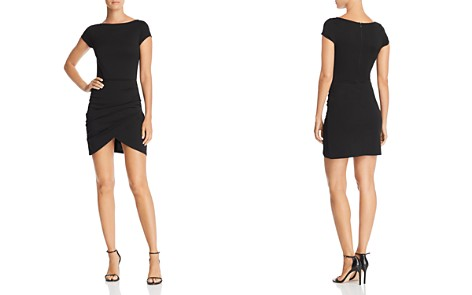 AQUA Cap Sleeve Ruched Dress - 100% Exclusive - Bloomingdale's_2