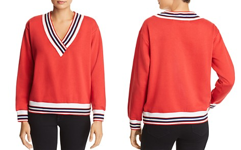 Rebecca Minkoff Kristine Striped-Trim Sweatshirt - Bloomingdale's_2