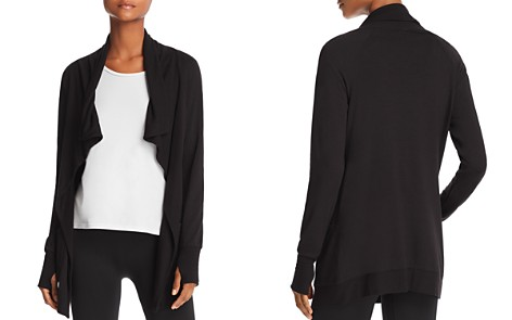 AQUA Athletic Draped Open-Front Cardigan - 100% Exclusive - Bloomingdale's_2