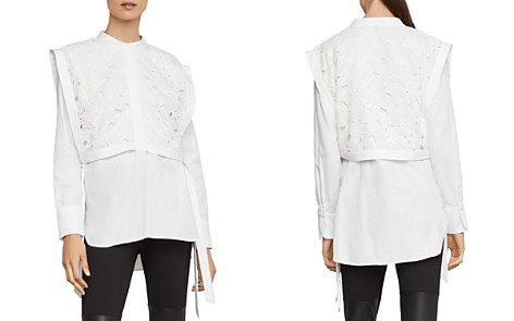 BCBGMAXAZRIA Embroidered-Bib Overlay Shirt - Bloomingdale's_2
