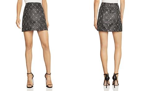 BCBGMAXAZRIA Basket-Weave Jacquard Mini Skirt - Bloomingdale's_2