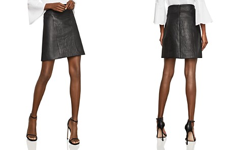 BCBGMAXAZRIA Faux-Leather A-Line Skirt - Bloomingdale's_2